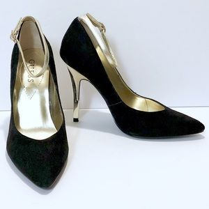 """Guess """"Dazzling"""" Suede Pointy Toe Pumps"""
